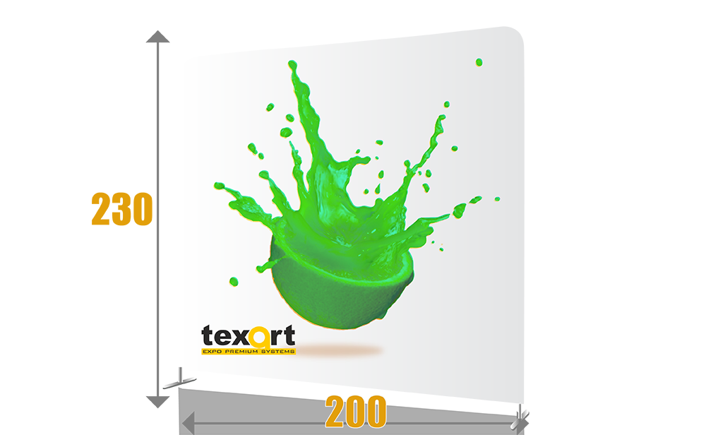 pop-up textil drept 200
